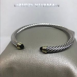 David Yurman 5mm Cable Classic Black Onyx Bracelet